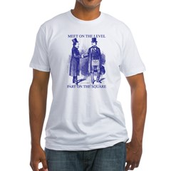 Meeting On the Level - Masonic Blue Fitted T-Shir