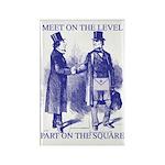 Meeting On the Level - Masonic Blue Rectangle Mag