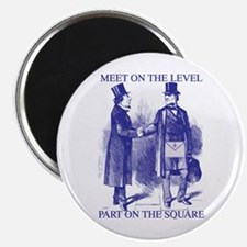 "Meeting On the Level - Masonic Blue 2.25"" Magnet"