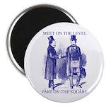 Meeting On the Level - Masonic Blue Magnet