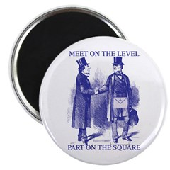 Meeting On the Level - Masonic Blue Magnet