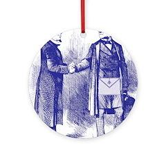 Meeting On the Level - Masonic Blue Ornament (Rou