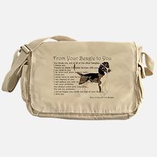 A Beagle's letter to you Messenger Bag