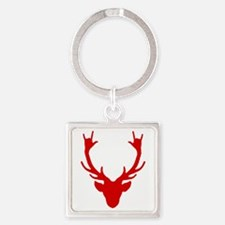Reindeer with I Love You hand gesture Keychains