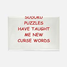 i love sudoku Magnets