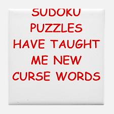 i love sudoku Tile Coaster