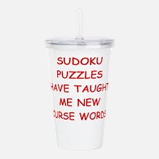 i love sudoku Acrylic Double-wall Tumbler