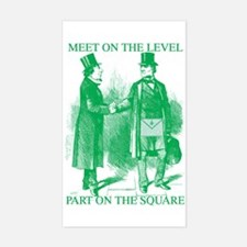 Meeting On the Level - Green Rectangle Decal