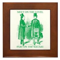 Meeting On the Level - Green Framed Tile