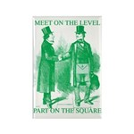 Meeting On the Level - Green Rectangle Magnet (10