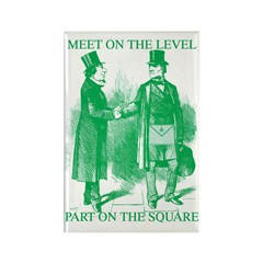 Meeting On the Level - Green Rectangle Magnet (100