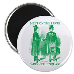 "Meeting On the Level - Green 2.25"" Magnet (10 pack"