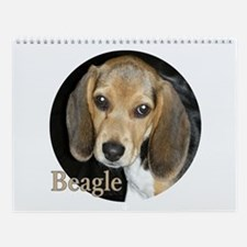 Close Up Beagle Puppy Wall Calendar