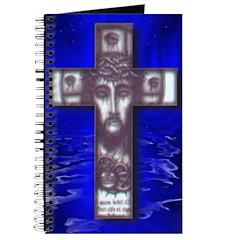 Indigo Christ Cross over Water Journal