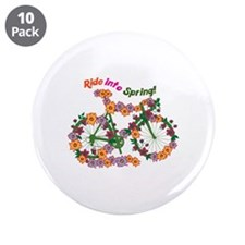 "Ride Into Spring 3.5"" Button (10 pack)"