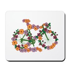 Floral Bicycle Mousepad