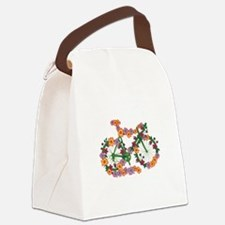 Floral Bicycle Canvas Lunch Bag