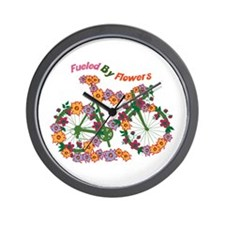 Fueled By Flowers Wall Clock