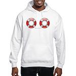 Life Preservers ~ Beach Hooded Sweatshirt