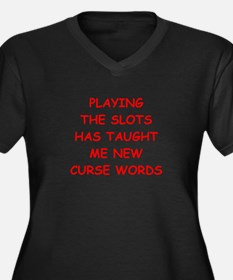 i love slot machines Plus Size T-Shirt