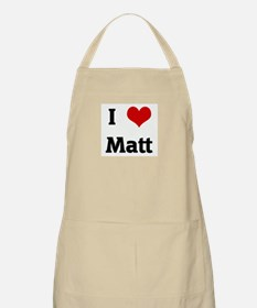 I Love Matt BBQ Apron