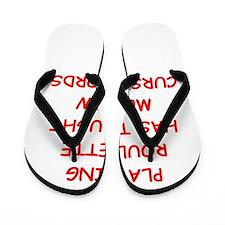 i love roulette Flip Flops