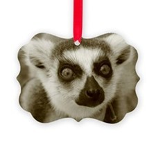 Ring-Tailed Lemur Holiday Ornament