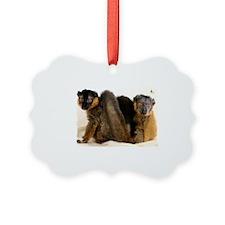 Collared Lemur Holiday Ornament