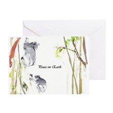 Indri 'peace On Earth' Card Greeting Cards