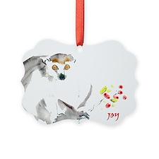 Lemur 'joy' Holiday Ornament