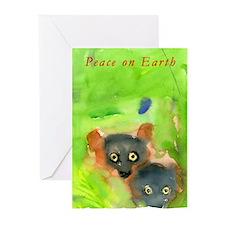 Red Ruffed Lemur Holiday Greeting Cards (pk 10)