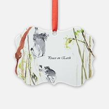 'peace On Earth' Lemur Ornament