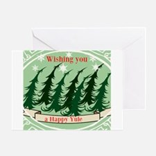 Wishing You A Happy Yule Card Greeting Cards