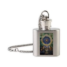 Cool Belfast northern ireland Flask Necklace