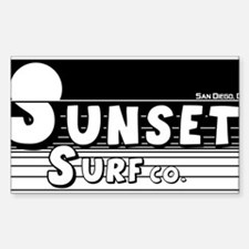 Sunset Surf Co. Rectangle Decal