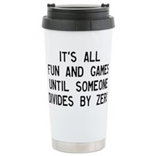 Funny Geometry Travel Mug