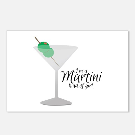 Martini Girl Postcards (Package of 8)