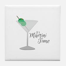 Martini Time Tile Coaster