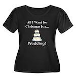 Christma Women's Plus Size Scoop Neck Dark T-Shirt