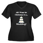 Christmas We Women's Plus Size V-Neck Dark T-Shirt