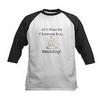 Christmas Wedding Kids Baseball Jersey