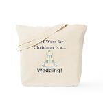 Christmas Wedding Tote Bag