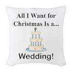 Christmas Wedding Woven Throw Pillow