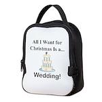 Christmas Wedding Neoprene Lunch Bag