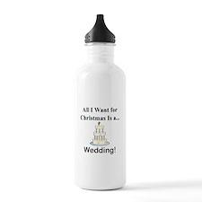 Christmas Wedding Water Bottle