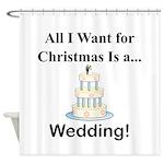 Christmas Wedding Shower Curtain