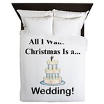 Christmas Wedding Queen Duvet