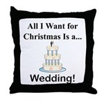Christmas Wedding Throw Pillow