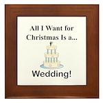 Christmas Wedding Framed Tile