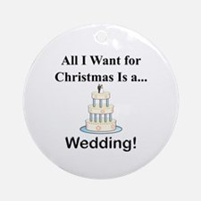 Christmas Wedding Ornament (Round)